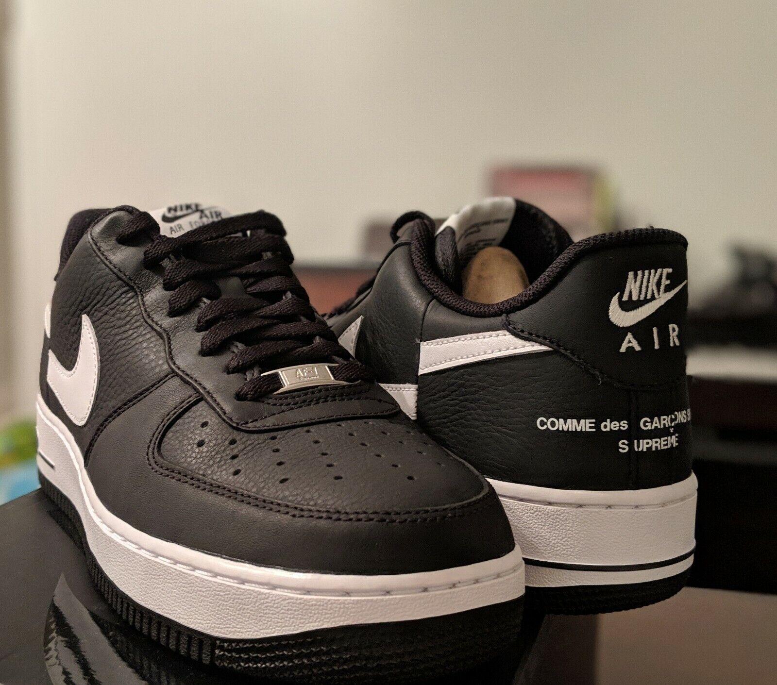 Nike Air Force 1 Low Supreme x Comme des Garcons Black Size 11