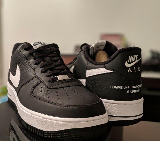 super cute a5f22 96145 Nike Air Force 1 Low Supreme x Comme des Garcons Black Size 11