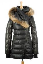100% AUTHENTIC Rudsak Roya Down Fur Puffer Coat Women Black Size XS
