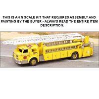 N Scale: American-lafrance 1000 Series Fire Ladder Truck Kit - Ghq Kit 52009
