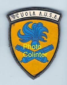 Scuola-A-U-S-A-Italie-Insigne-de-bras-Annees-60-Distintivo-da-stoffa