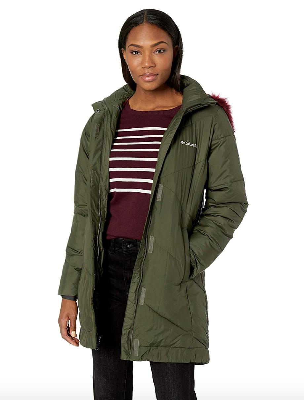 5591dca82 Columbia Womens XS-S-M Mid Length Jacket Warm Winter Coat Snow Eclipse Nori