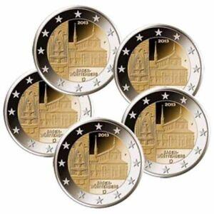 2 Euro Deutschland - 5 x 2 Euro Satz Baden Wüttemberg - A, D, F, G, J, NEU - Allmersbach, Deutschland - 2 Euro Deutschland - 5 x 2 Euro Satz Baden Wüttemberg - A, D, F, G, J, NEU - Allmersbach, Deutschland