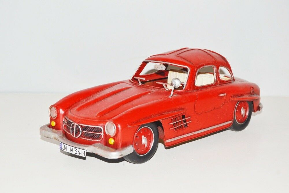 Mercedes 300 sl nostalgie modellauto angelegt haben blechmodell, metall 33 cm, neu (ko)
