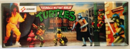 Teenage Mutant Ninja Turtles Arcade Game Marquee Fridge Magnet