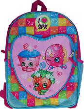 Shopkins Heart Shaped Front Pocket 16 Inch Girls School Backpack Large Book Bag