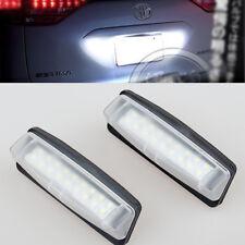 2x White LED License Plate Light For Toyota Previa 3G XR50 Estima Tarago 06-17