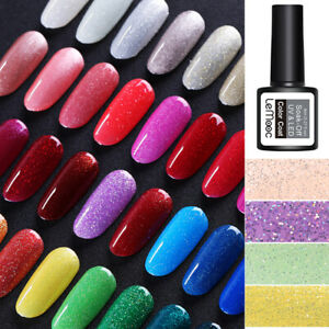 LEMOOC-8ml-Nagel-Gellack-Soak-Off-Nail-Glitter-Sequins-Nail-Art-UV-Gel-Polish
