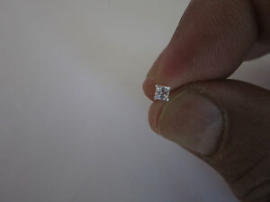 Nose Piercing Sterling Silver Nose Stud Cz 4mm Ball End 9mm Long
