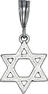 Sterling-Silver-Jewish-Charm-Star-of-David-Pendant-Necklace-Oxidized-with-Chain