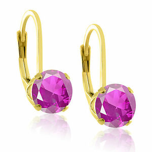 14k-Gold-over-Sterling-Silver-925-Lab-Created-Gemstone-Lever-Back-Earrings