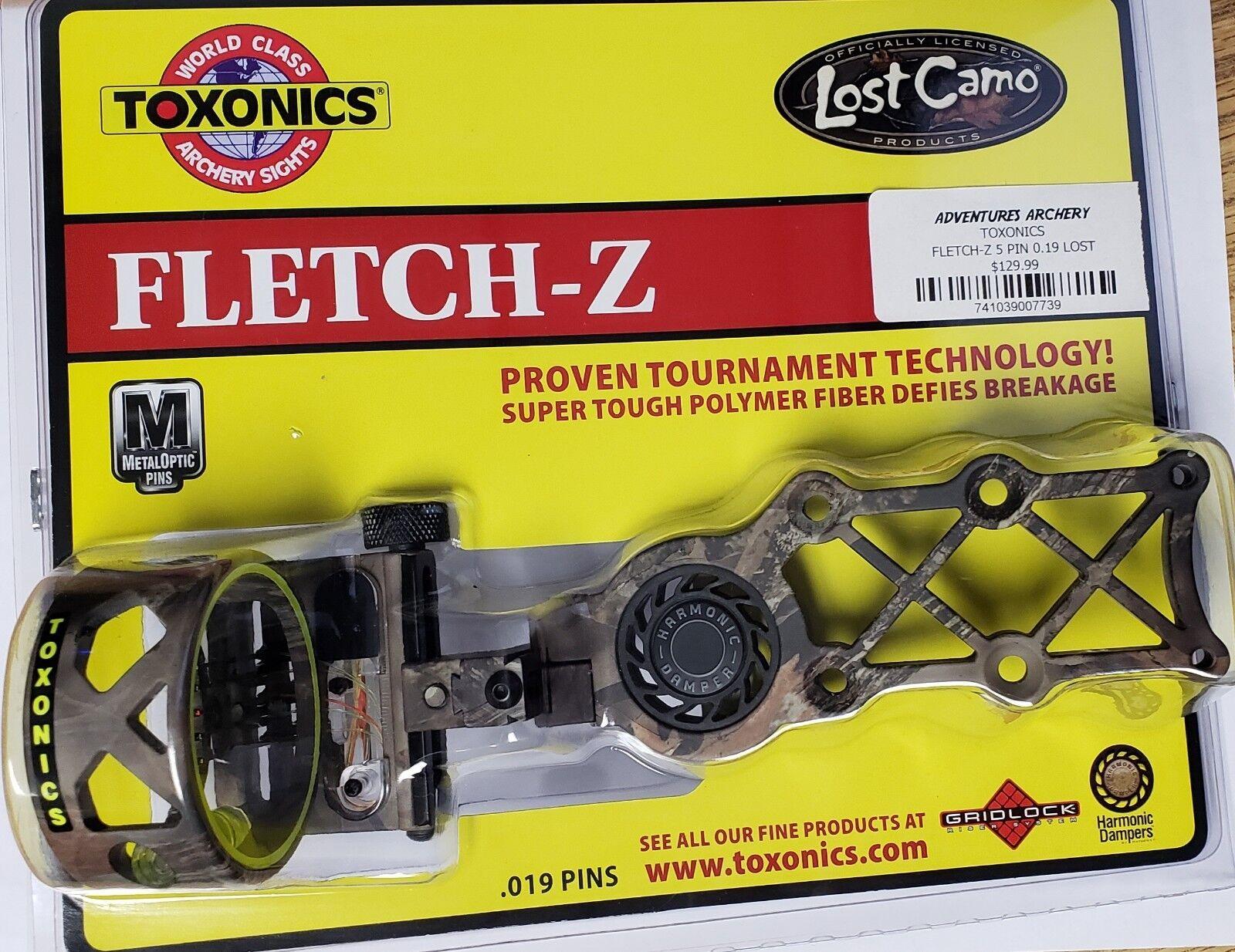 Toxonics lost camo Fletch-Z 5 Pin .019  nuevo