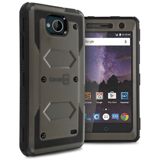 promo code 8b5f2 d6326 for ZTE Tempo / Majesty Pro Plus Gray Case Protective Armor Hard Phone Cover