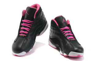 the best attitude 3e385 655a5 Details about Nike Air Jordan Retro 13 XIII GG Black Anthracite Pink New GS  Sz 5.5Y