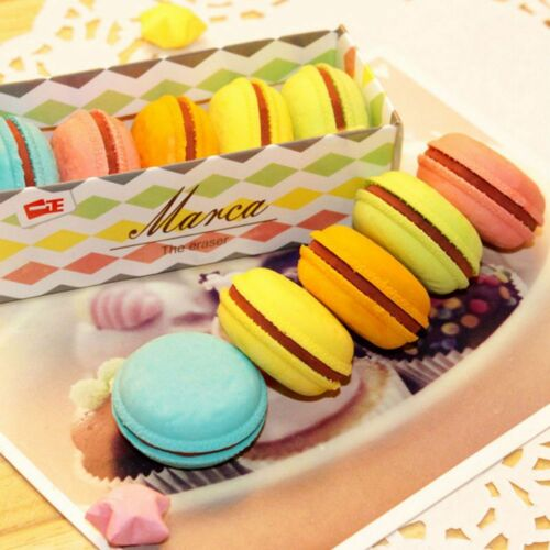 5Pcs//lot Rubber Eraser Creative Macaron Stationery School Supplies Gift for Kids