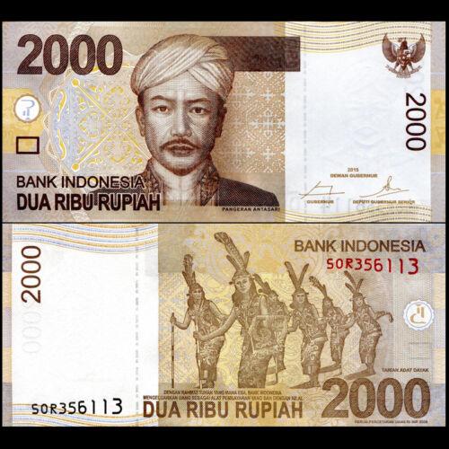 2015 UNC P-148 Indonesia 2000 2,000 Rupiah