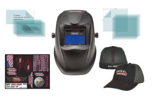 Lincoln Electric Viking 1740 Black Welding Helmet K3282-2 W// FREE Lincoln Hat