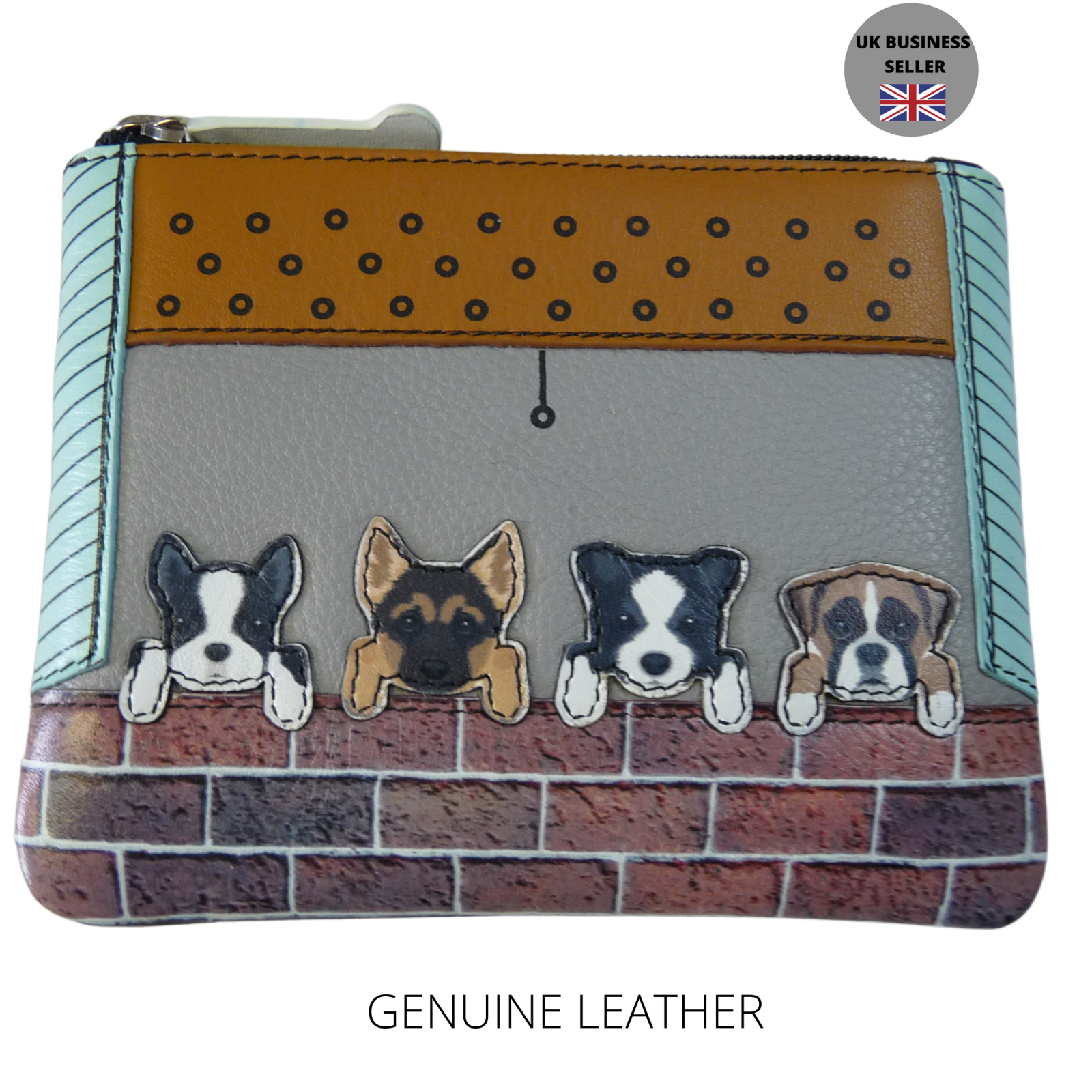 Mala Leather Dogs Coin Purse soft leather dog GERMAN SHEPHARD BOXER