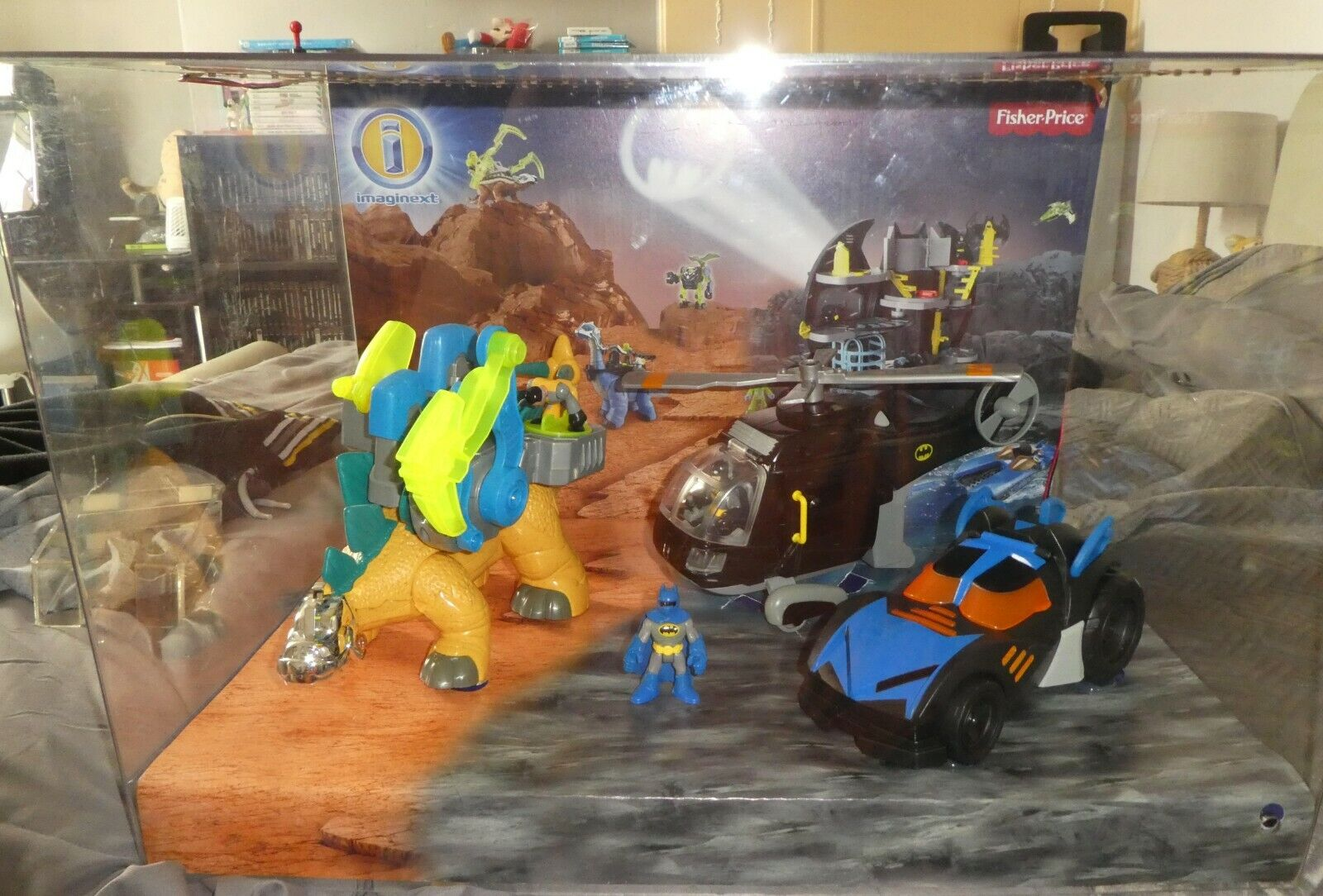 DC Ex DisJugar Promo Imaginext Fisher Batman Batmobile luz movimiento hablando