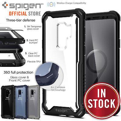 the best attitude 80d93 56208 Galaxy S9 Plus Case,Genuine SPIGEN Hybrid 360 Full Bod Cover w/ Tempered  Glass | eBay