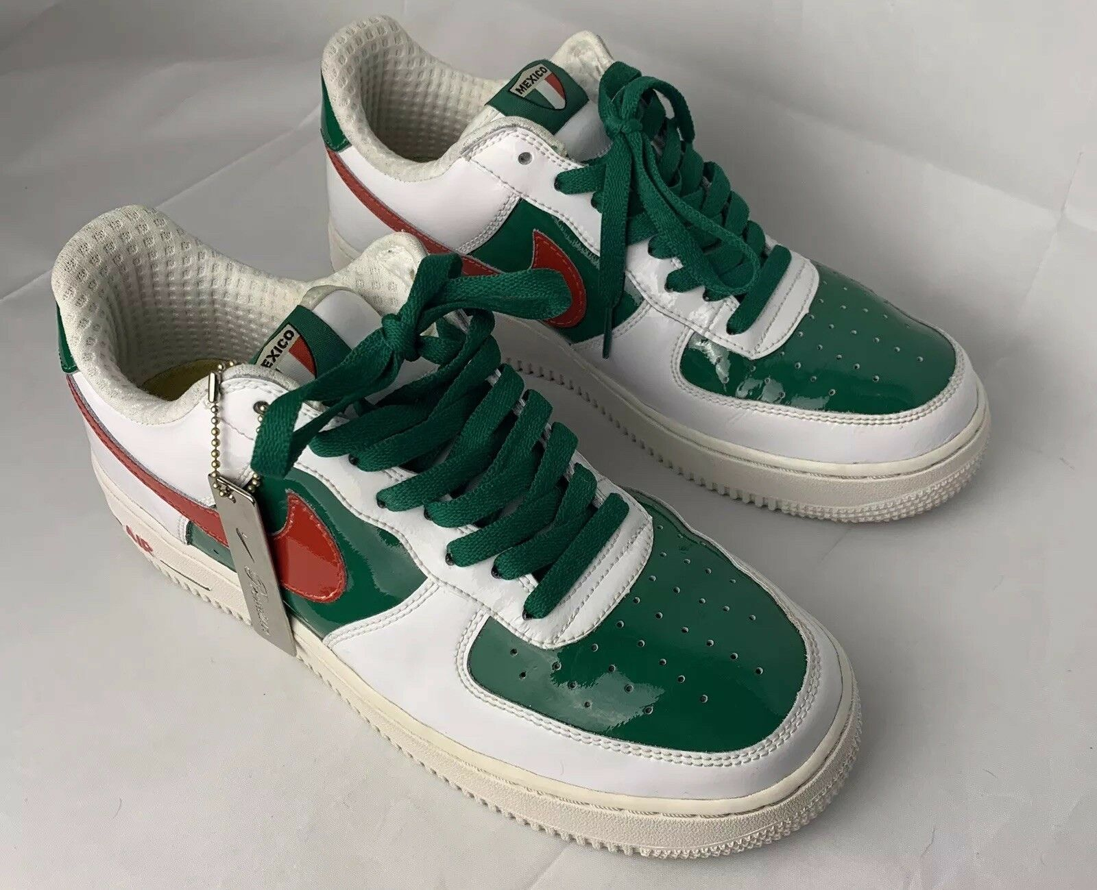 Nike Air Force One Low Premium  Mexico World Cup  309096-162 Men Size 9 2005
