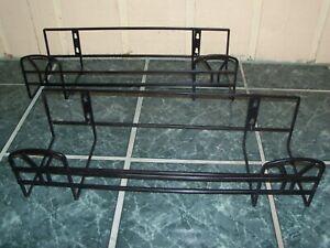 Details About Black Wrought Iron Set Of 2 Railing Flower Planters Window Box Rail Art Deco