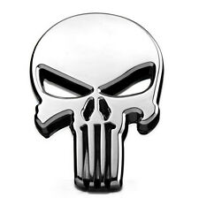 Skull Emblem Badge Decal Motorcycles Tank Harley Honda Suzuki Choppers Bobbers