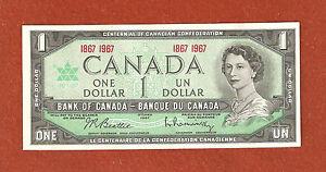 1867-1967 Centennial One Dollar Bank Note Gem Uncirculated Crisp Bank Note Lot81