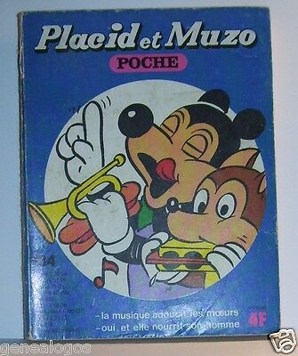 Activo Placid Muzo Poche N°134 B Livre Bande Dessinee Bd Made In France Arnal 162 Pages LíMpido A La Vista