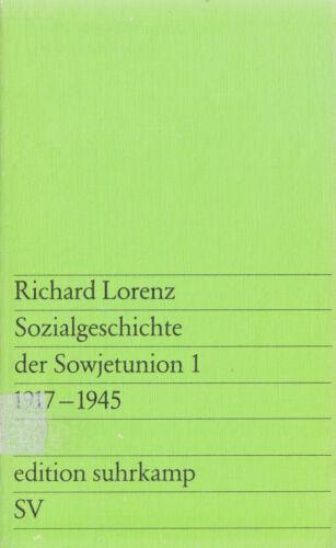 1 von 1 - su- e 0654 LORENZ : SOZIALGESCH. DER SOWJETUNION 1917- 1945 a