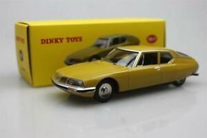 Atlas-Dinky-toys-1-43-Citroen-SM-1970-Alloy-car-model-Gold-24-O