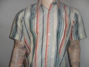 à Condition De Vintage National Chemise Boutiques Mod 60's Rayure Manche Courte L