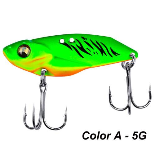 3D Eye Fishing Metal VIB Lures Lead Casting Spoon Lure Jig Metal Slice