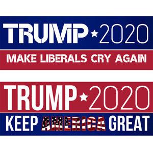 10PCS-Set-Bumper-Stickers-Trump-2020-Keep-America-Great-Make-Liberals-Cry-Again