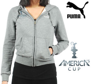 PUMA-America-039-s-Cup-Women-039-s-Grey-Heather-Hoodie-Hooded-Sweatshirt-CLEARANCE-STOCK