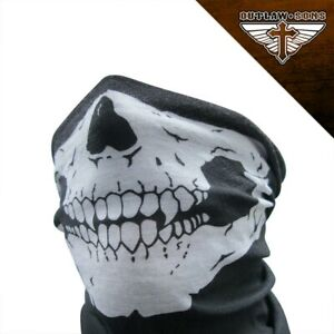 All Season Motorcycle Paintball Black Skull Face Mask Bandanna Ebay