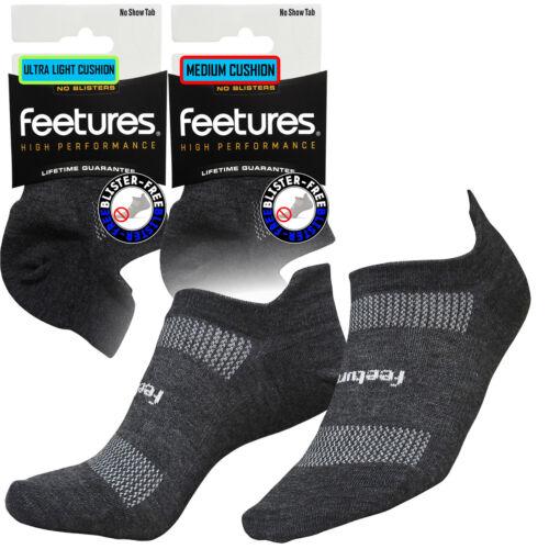 Feeture High Performance NST Running Blister Irritation Free Sports Socks Grey