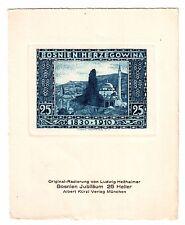Bosnien 25 Heller: Original-Radierung Ludwig Heßhaimer, Selten