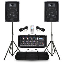 Complete Band PA Speaker System 400w with 8 Channel BT Mixer Amp plus Stands
