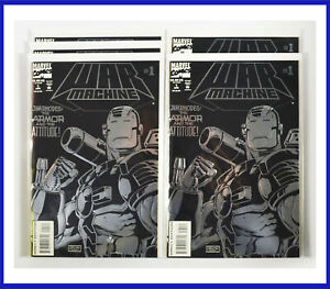 War-Machine-1-Marvel-1994-Lot-Of-5-Copies-Embossed-Foil-Cover-NM-Comic-Books