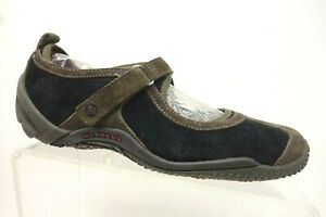 Merrell-Black-Leather-Mary-Jane-Casual-Slip-On-Driving-Loafers-Shoes-Women-039-s-6-5