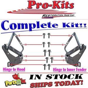 Fits 70 71 72 73 74 Cuda Challenger 71 74charger Roadrunner Hood Hinge Bolt Kit Ebay