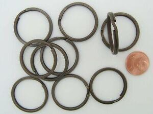 10-ANNEAUX-BRISES-PORTE-CLE-simple-metal-bronze-25mm-Loisirs-creatifs