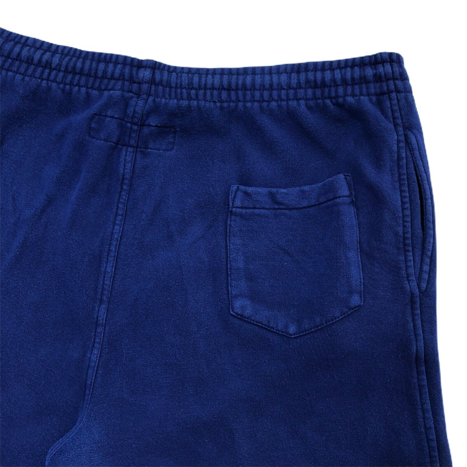 Vintage 90s B.U.M. Equipment Shorts navy blue Swe… - image 4
