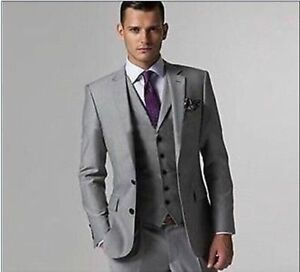 shopping top-rated authentic price reduced Details about Custom Made Light Gray Mens Wedding Suits Groom Tuxedos  Formal Occasion Suits