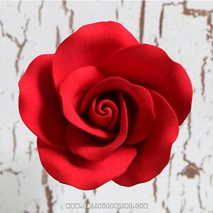Image Is Loading 8 Single Red Roses Sugar Flowers Wedding Birthday