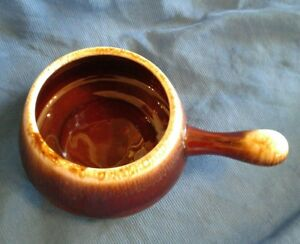 Vintage McCoy Pottery Onion Soup Chili Bowl With Handle 7054