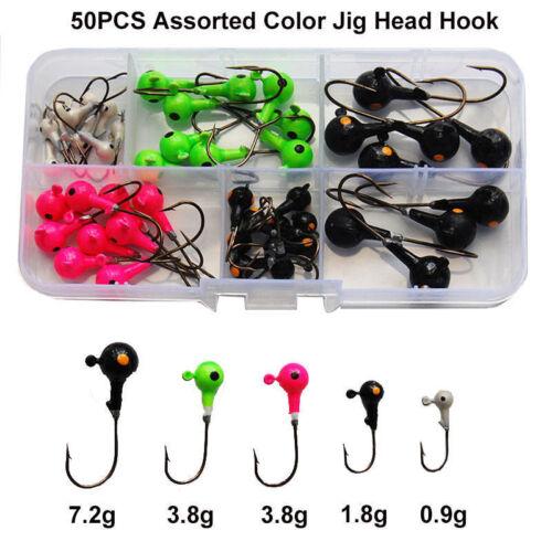 46pcs//50pcs Lead Jig Head Hooks Saltwater Fishing Lures Bait Fishing Tackles