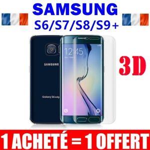 Pack-2-Vitre-Film-Protection-VERRE-Trempe-Incurve-Ecran-Samsung-S8-S7-S6-Edge-S9