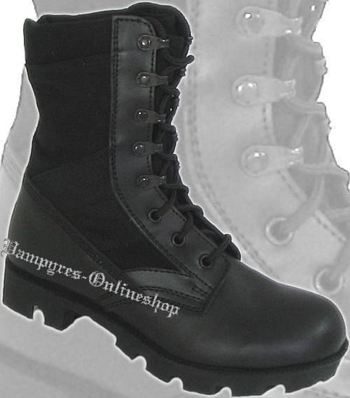 MMB US Jungle Bottes  Noir Jungle Bottes Chaussures en Cuir Noir  Bottes noir nero a89879